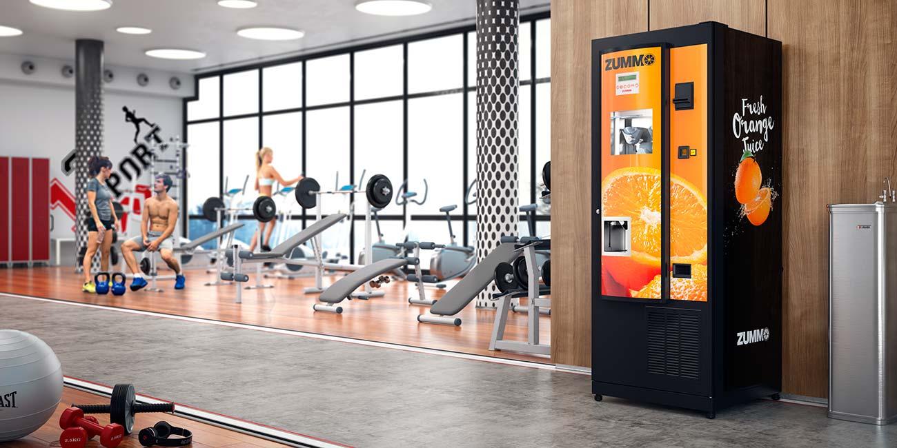 Zummo Juiceautomat ZV25 installerad på gym